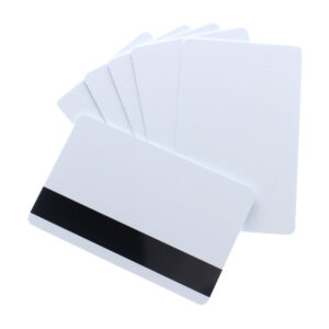 CARD BIANCHE 0,80mm RFID 125KHZ CON BANDA MAGNETICA HICO