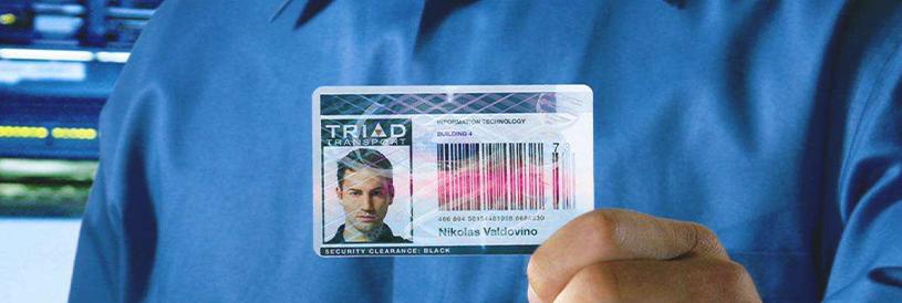 Porta badge intestazione articolo